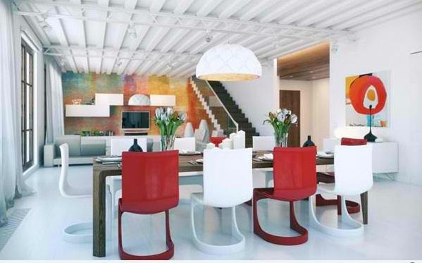 esszimmer gestalten dekorative decke esstisch stühle