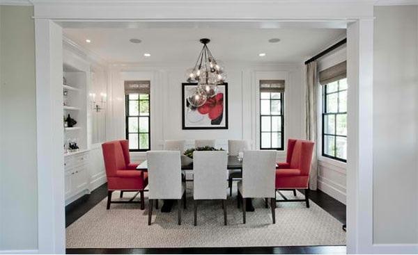 15 hinrei ende esszimmer in rot wei und schwarz. Black Bedroom Furniture Sets. Home Design Ideas