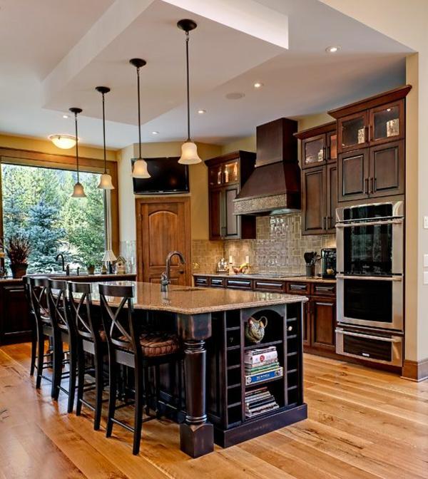 küche küchenblock freistehend als esstisch barhocker
