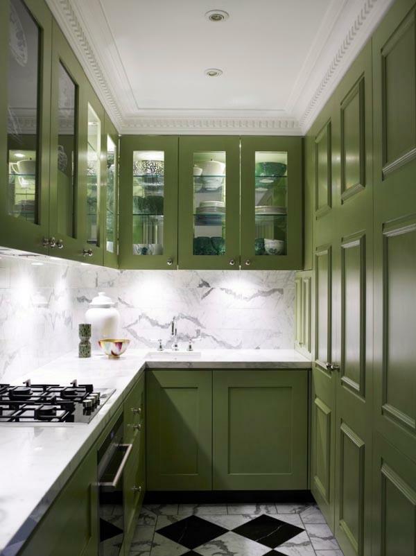 küchenlösungen für kleine küchen in grün