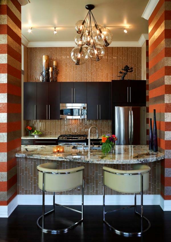 wohnideen küchenlösungen für kleine küchen kücheninsel barhocker