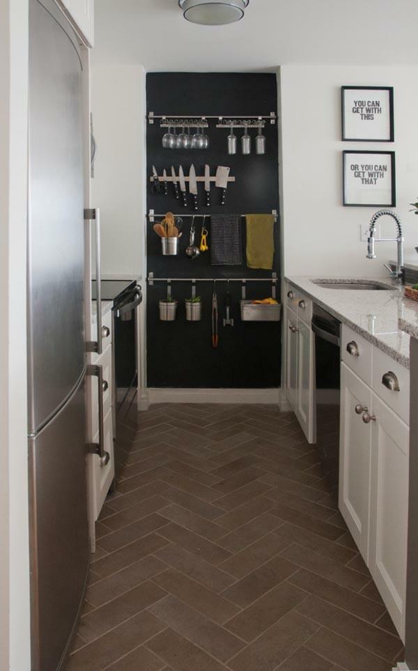 funktionelle und praktische k chenl sungen f r kleine k chen. Black Bedroom Furniture Sets. Home Design Ideas