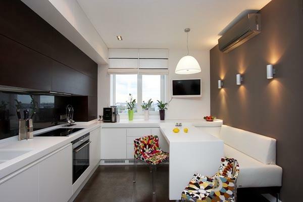 küchenlösungen für kleine küchen schwarz und weiß