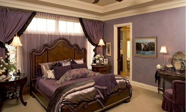 Schlafzimmer Schwarz Lila : Romantic Master Bedroom Decorating Ideas ...