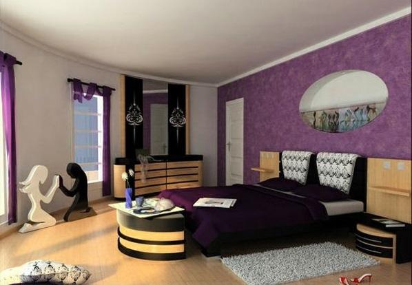 lila schlafzimmer möbel dekoideen