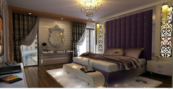 15 wundersch ne lila schlafzimmer ein paradies f r die augen. Black Bedroom Furniture Sets. Home Design Ideas