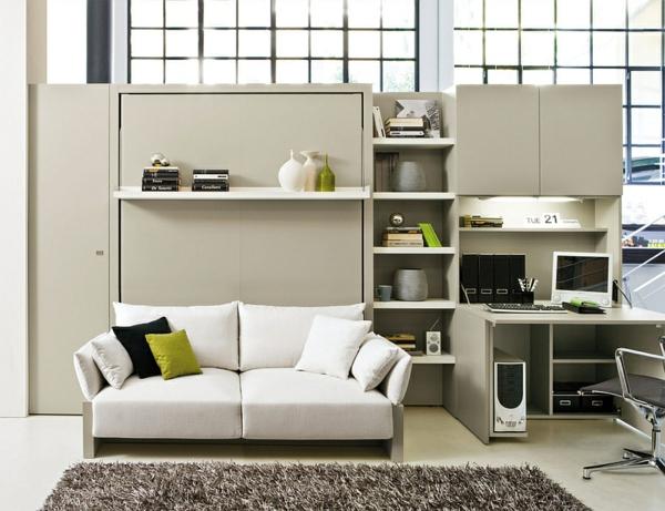 Horizontal Murphy Bed Desk Combo
