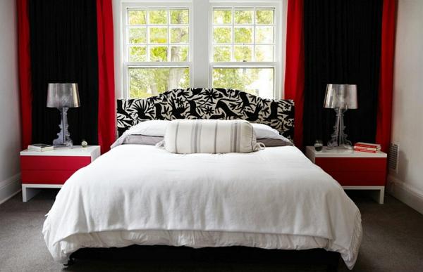Wohnideen Schlafzimmer Rot hinreißende wohnideen in rot schwarz weiß