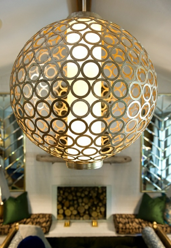 wohnideen wohnzimmer beleuchtung kronleuchter metall
