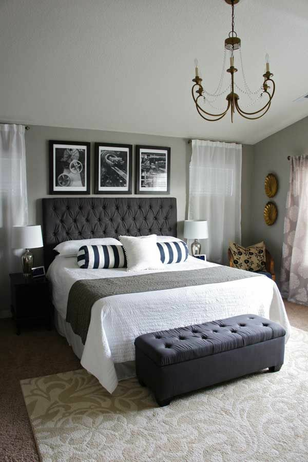 Beautiful Schlafzimmer Einrichten Graues Bett Pictures - House ...