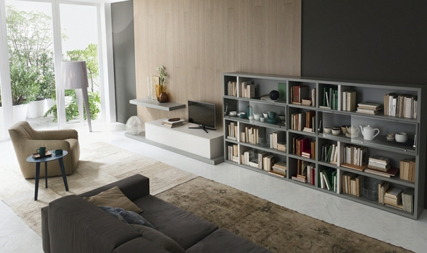 bücherregale wandregal tv schrank teppich sofa