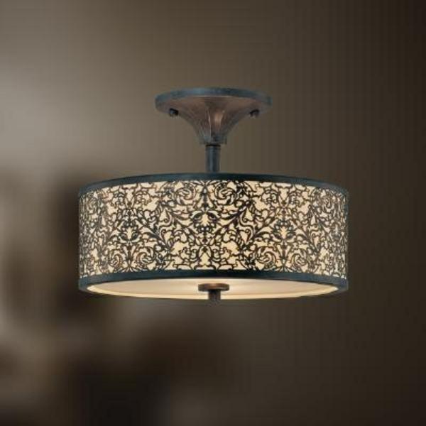 beleuchtungsideen kronleuchter metall gitter