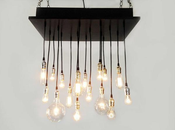 beleuchtungsideen rustikaler kronleuchter industriell