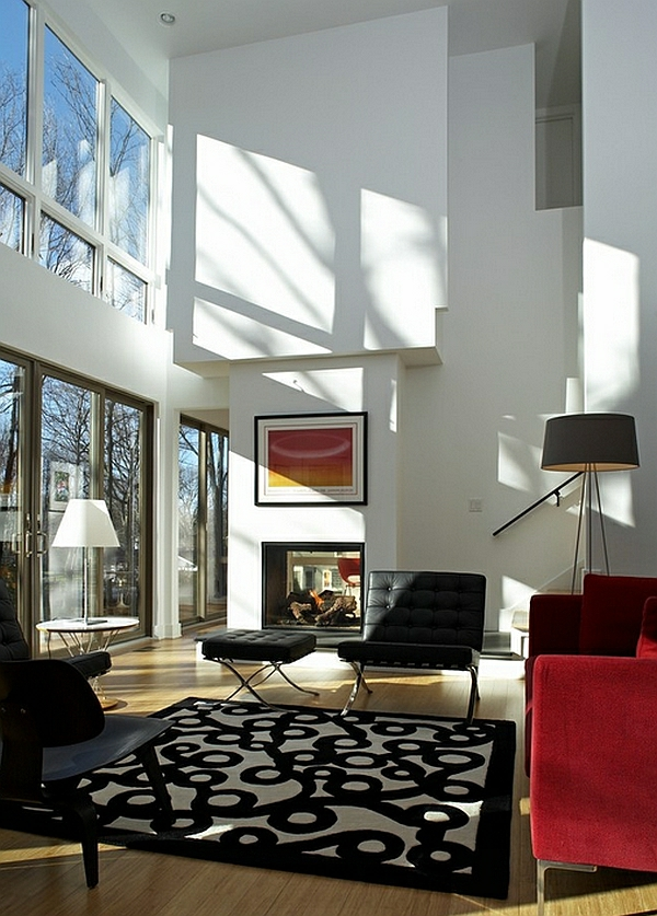 wohnzimmer beleuchtungsideen standleuchten stativlampe
