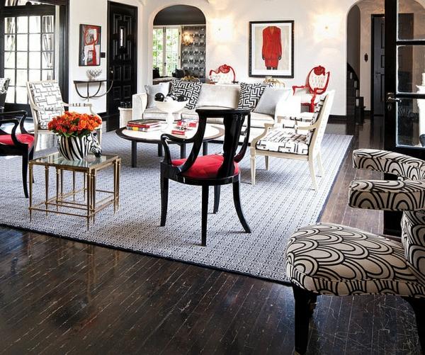 Designer Wohnzimmer Braun ~ tapeten wohnzimmer beispiele braunwohnzimmer rot schwarz  Wohnzimmer