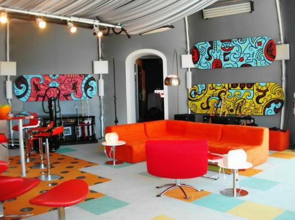 ... wohnzimmer rot:wohnzimmer design farbgestaltung sommerpalette orange