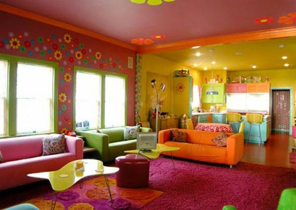 Rosa Wohnzimmer Teppich : wohnzimmer design sommer farbpalette rosa ...