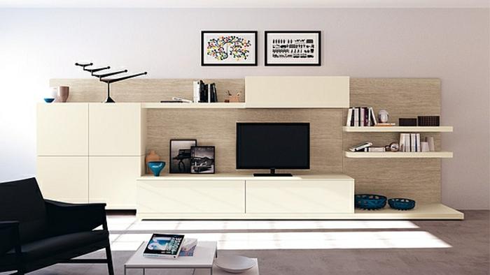 wohnzimmer einrichtungsidee minimalistischer stil klare linien schlicht modern