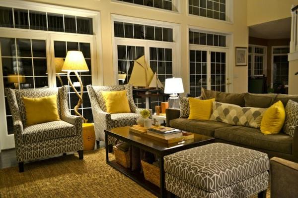 wohnzimmer grau gelb:50 Wohnungsgestaltung Ideen für ein modernes und gemütliches Zuhause