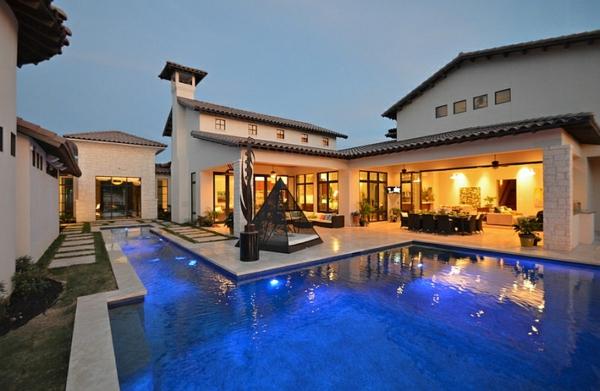 terrassengestaltung pool outdoor bett