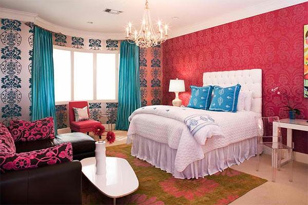 Jugendzimmer wandgestaltung farbe mädchen  Jugendzimmer Mädchen - Einrichtungsideen für wachsende Mädels