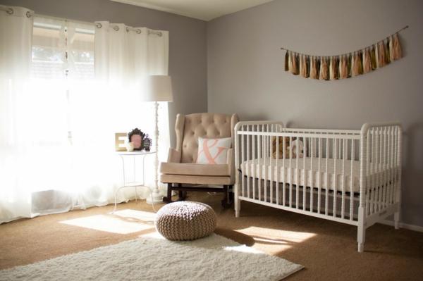 Babyzimmer Gestalten Deko Ideen Gardinen Luftig