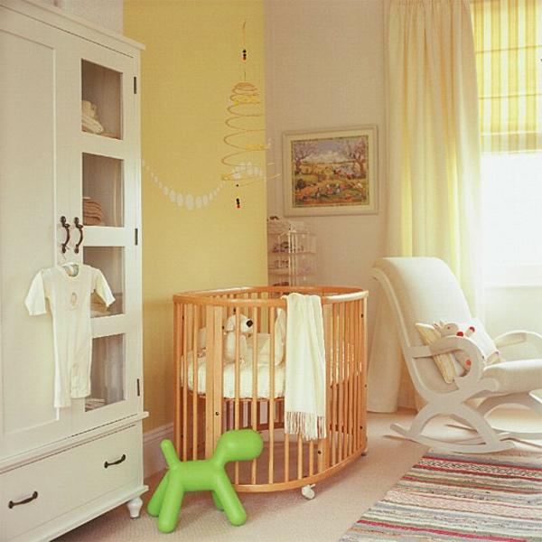 Babyzimmer wandgestaltung farben  Babyzimmer gestalten - 50 coole Babyzimmer Bilder
