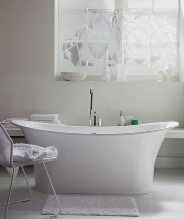 weiß badezimmer klein ideen badewanne sticker