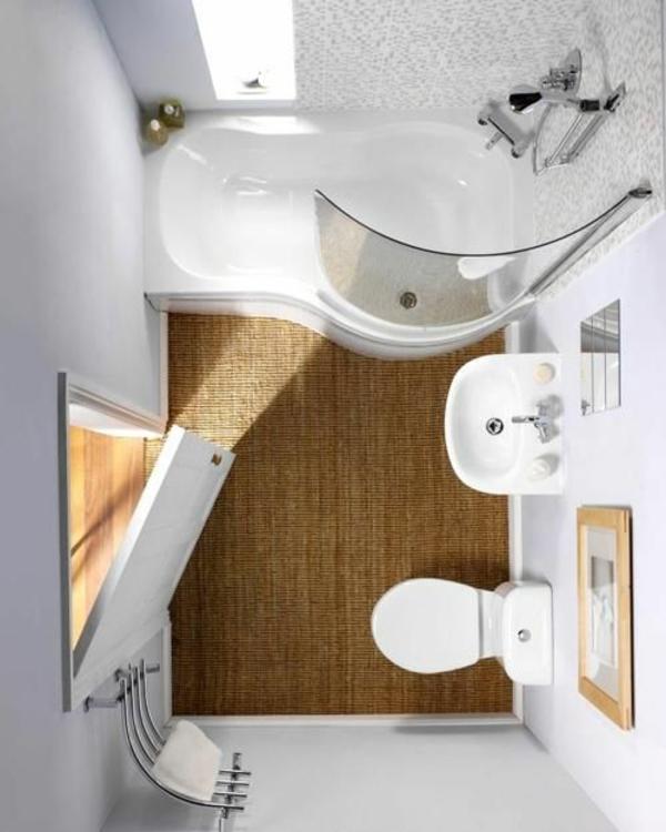 Badideen für kleines Bad rustikal stil