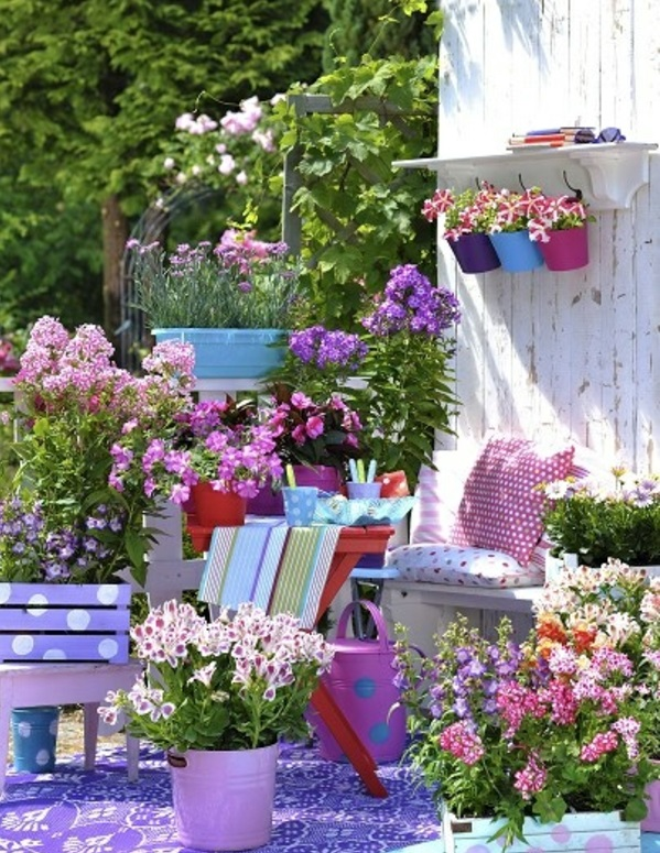 Balkonbepflanzung Ideen niedlich