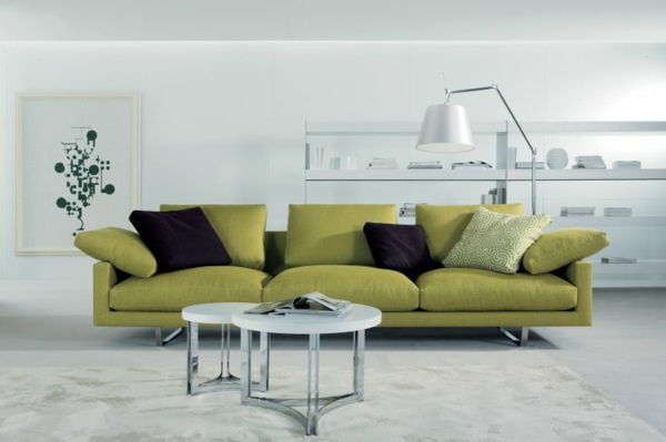 Chaiselongue sofa grün design