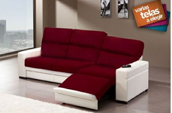 Chaiselongue sofa möbel rot weiß