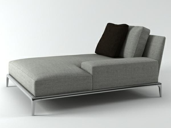Chaiselongue sofa tolle möbel grau und schwarz