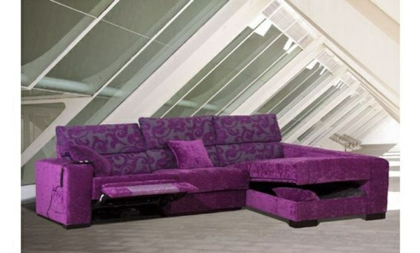 Chaiselongue sofa möbel lila inspiration