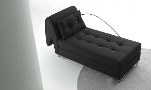 Chaiselongue sofa tolle möbel schwarz mit knöpfen