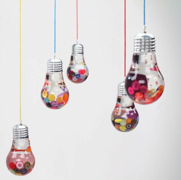DIY Deko aus Glühbirnen art deko