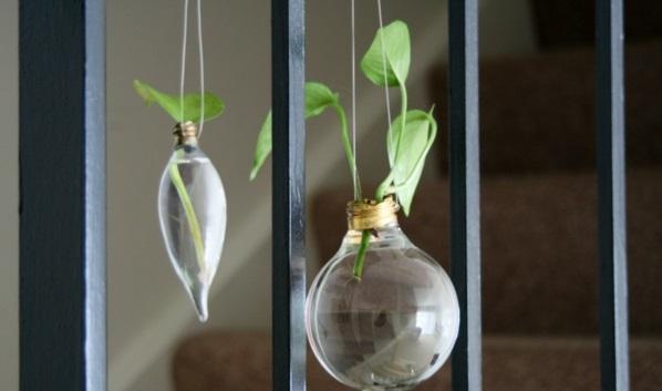 DIY Deko Glühbirnen hängend formen