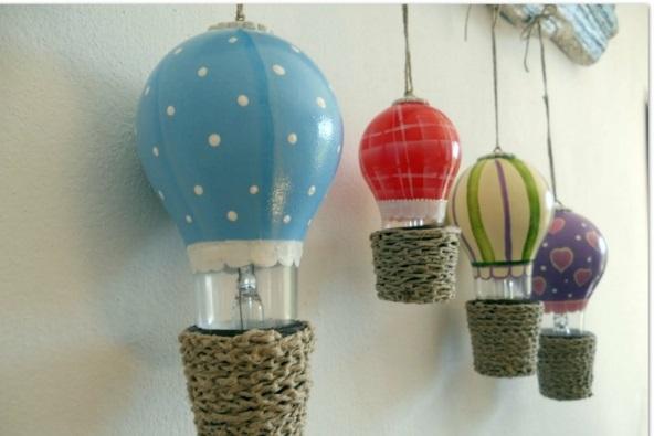 DIY Deko ballons Glühbirnen malen