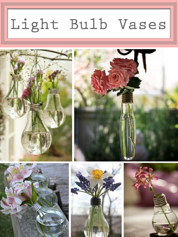 DIY Deko Glühbirnen pflanzen blumen
