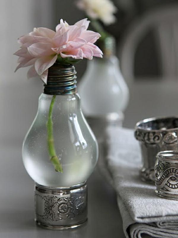 Glühbirnen DIY Deko vintage rosa