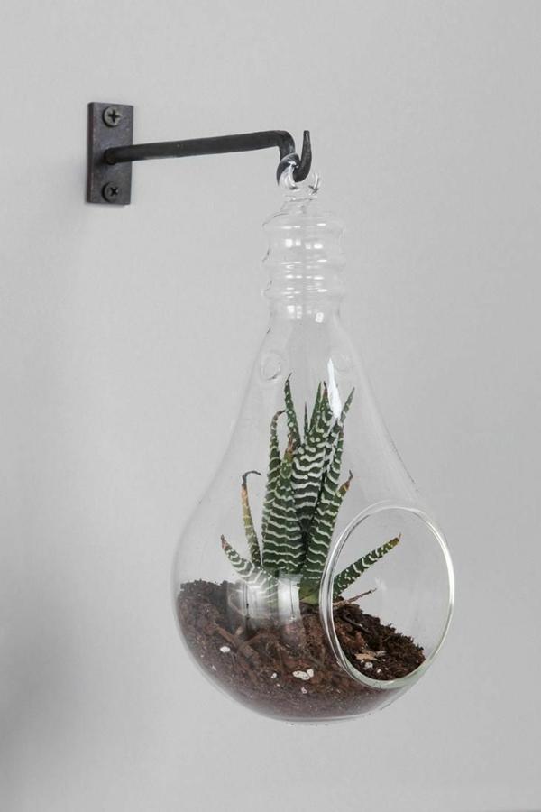 DIY Deko aus Glühbirnen wandlampe
