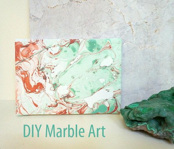 Marble Effect Nail Art Design Black White
