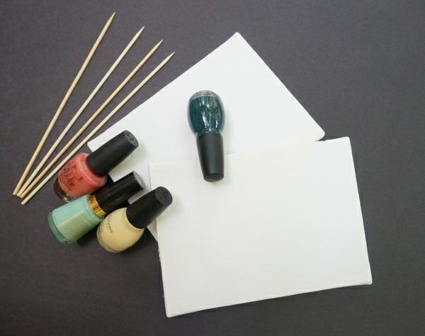 DIY Marmor Dekoartikel nagellack