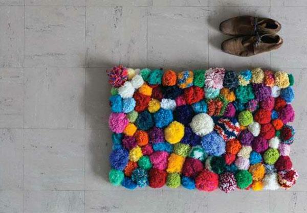DIY Teppiche und Fußmatten bunte teile