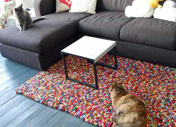 DIY Teppiche und Fußmatten couchtisch wohnzimmer