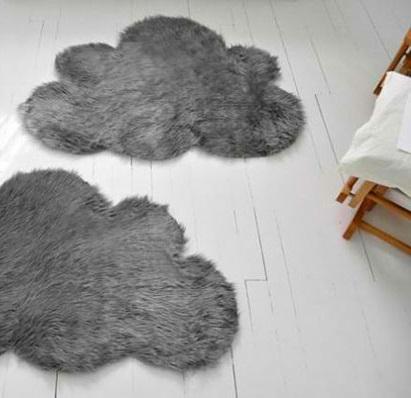 DIY Teppiche und Fußmatten fell grau wolken
