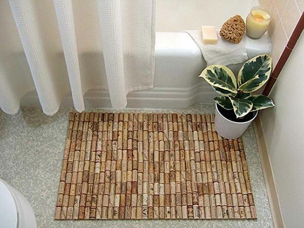 DIY Teppiche und Fußmatten holz badezimmer