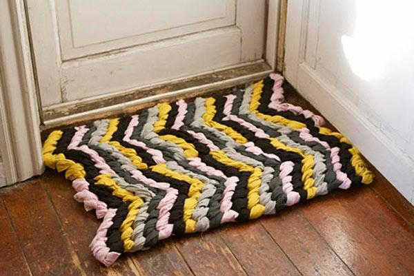DIY Teppiche und Fußmatten streifen bunt