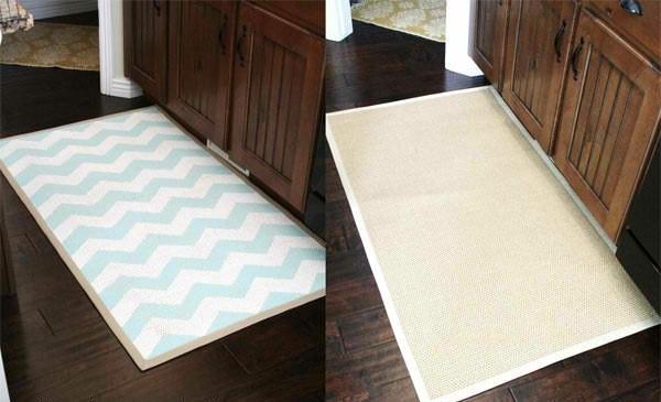 Teppiche Fußmatten streifen chavron