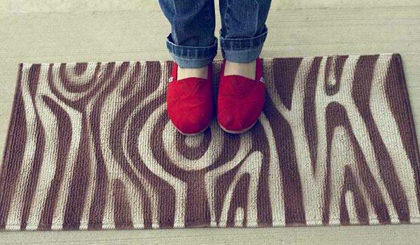 DIY Teppiche Fußmatten stoff badezimmer